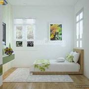 nội thất phòng ngủ màu xanh
