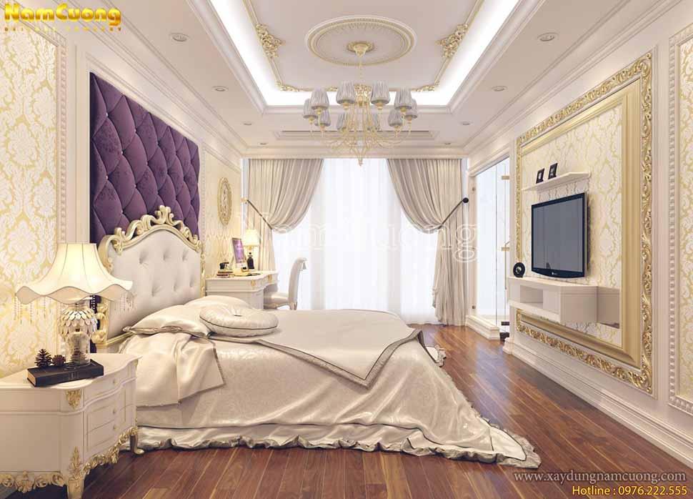không gian phòng ngủ sang chảnh