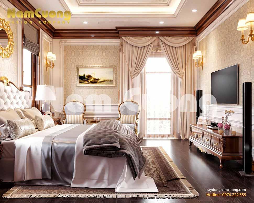 thiết kế phòng ngủ lâu đài