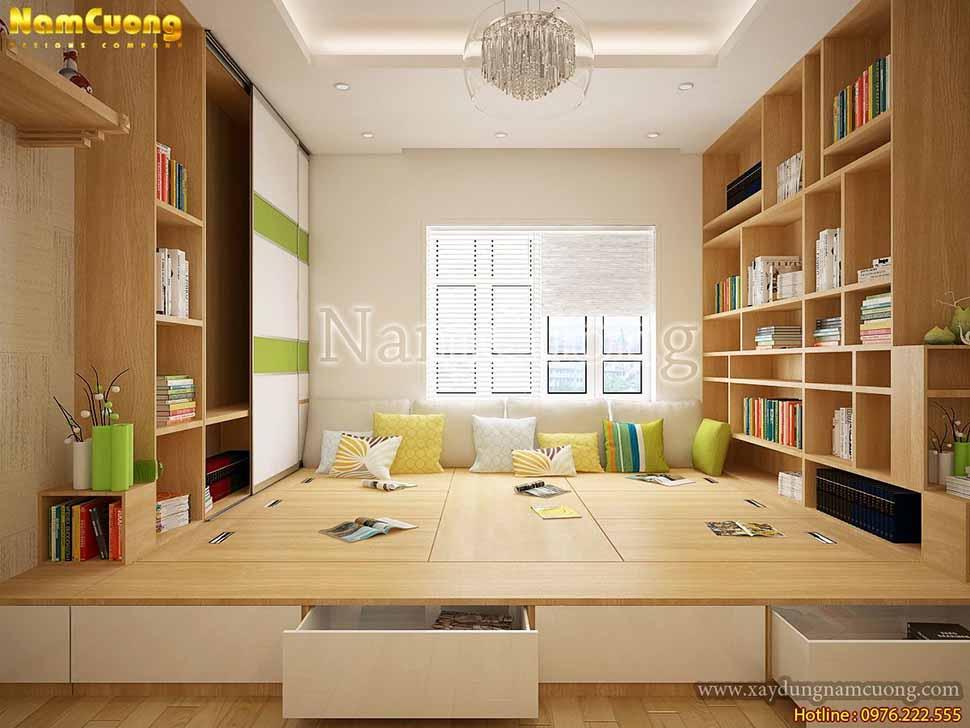 nội thất phòng sinh chung hiện đại