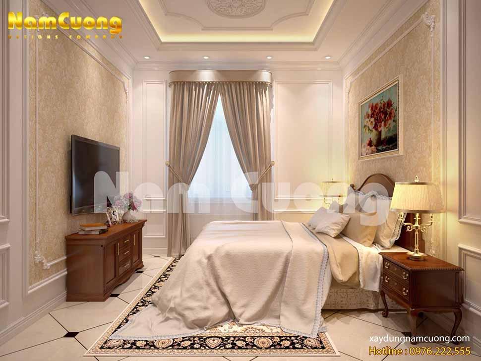 phòng ngủ nội thất tân cổ điển biệt thự