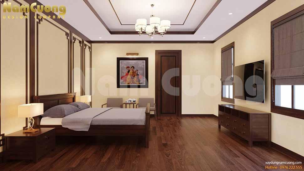 phòng ngủ phong cách nội thất á đông