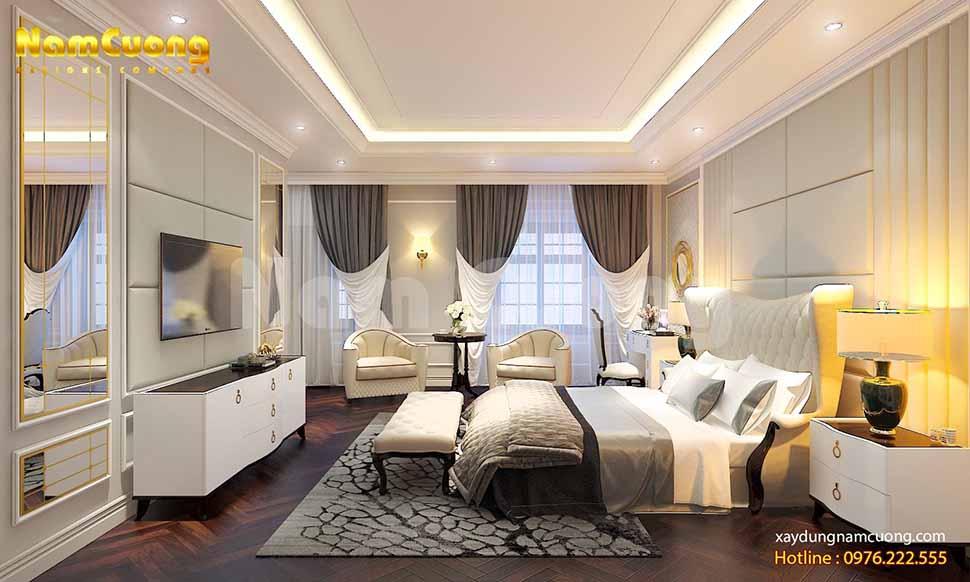 phòng ngủ sang trọng kiểu Pháp