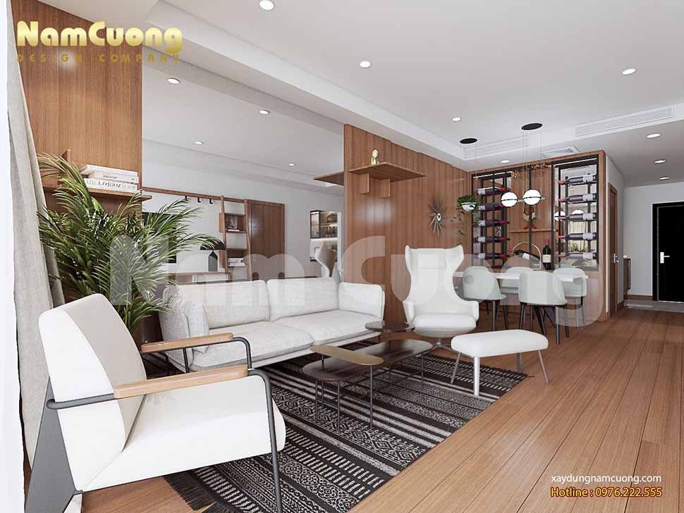 nội thất khách bếp chung cư