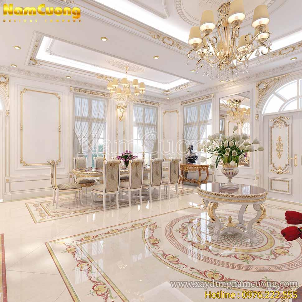 phòng khách và bếp chung nhau