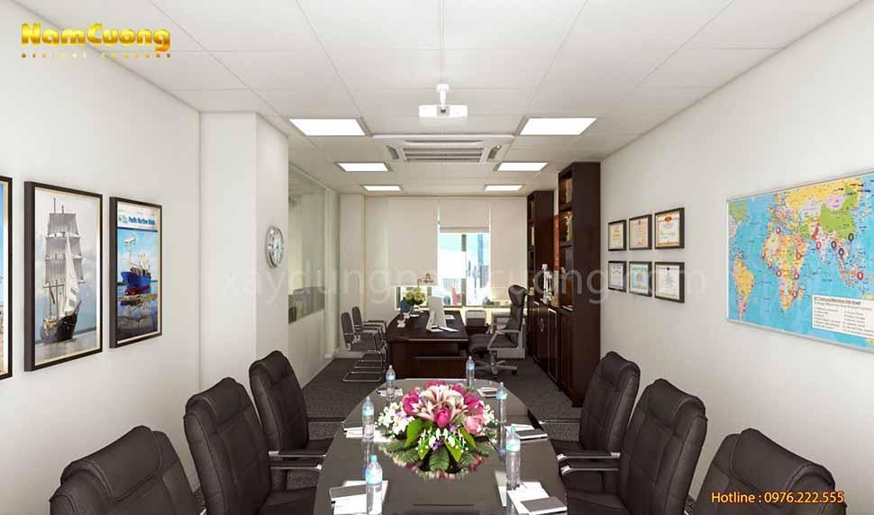 không gian phòng họp và phòng giám đốc