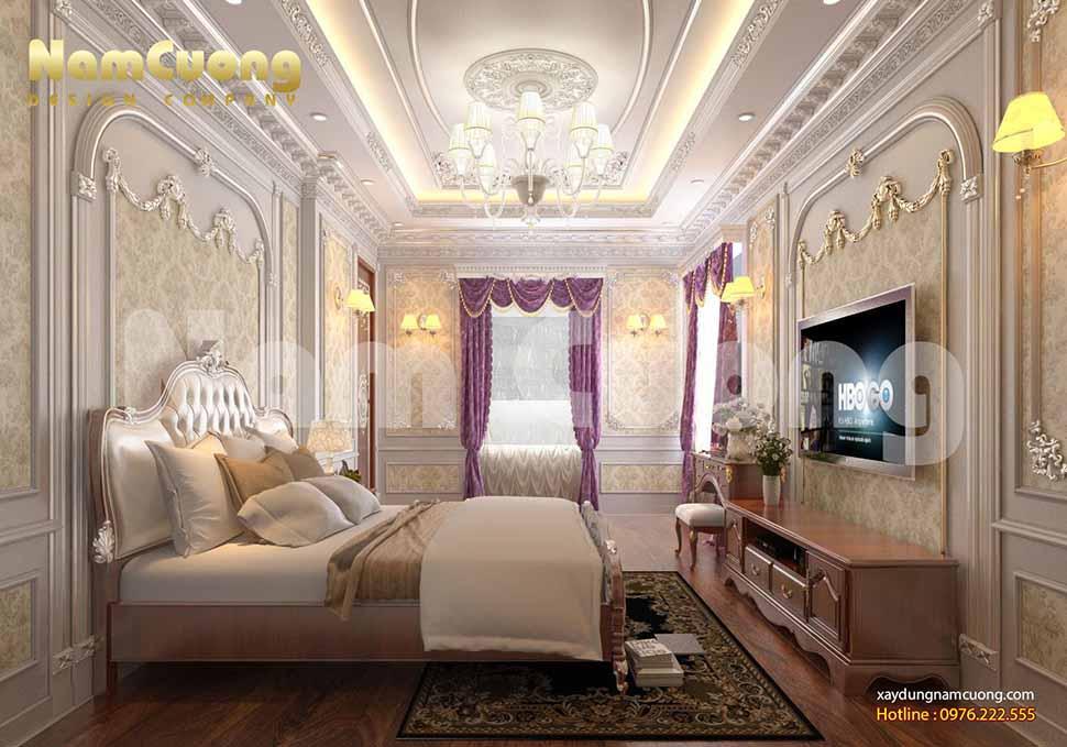 không gian phòng ngủ cổ điển sang trọng