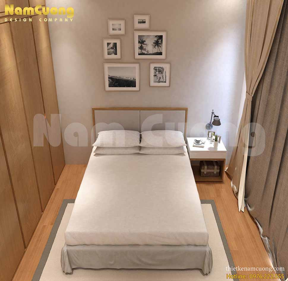 phòng ngủ đơn giản rộng 15m2