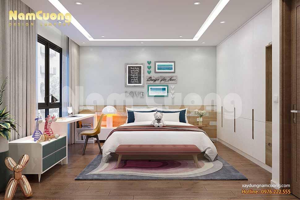 phòng ngủ hiện đại đơn giản bé gái