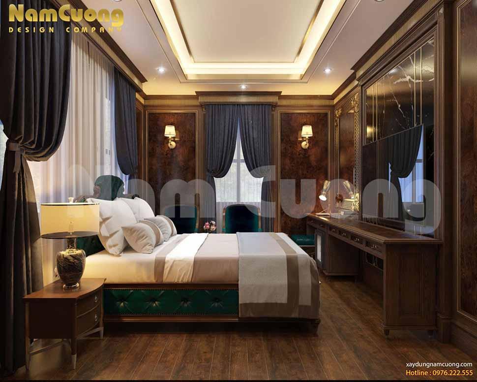 nội thất phòng ngủ trên tầng mái khách sạn