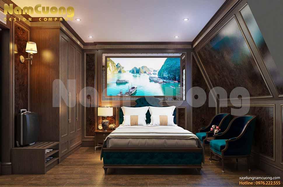 phòng ngủ trên mái