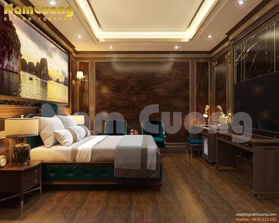 không gian phòng ngủ cao cấp
