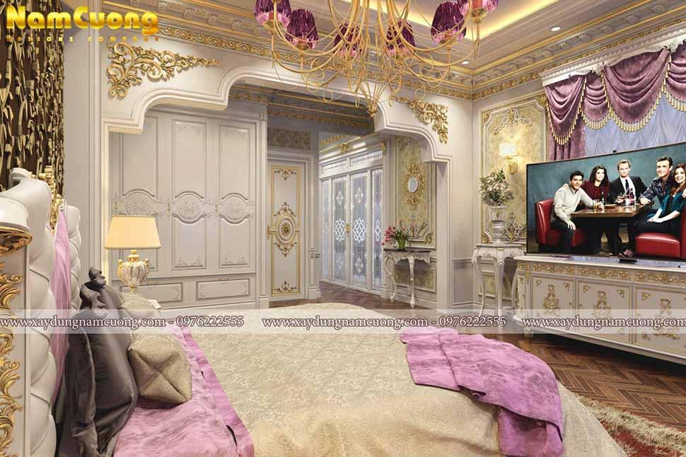 không gian phòng ngủ kiểu cổ điển