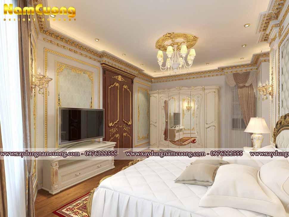 nội thất sang trọng của phòng ngủ