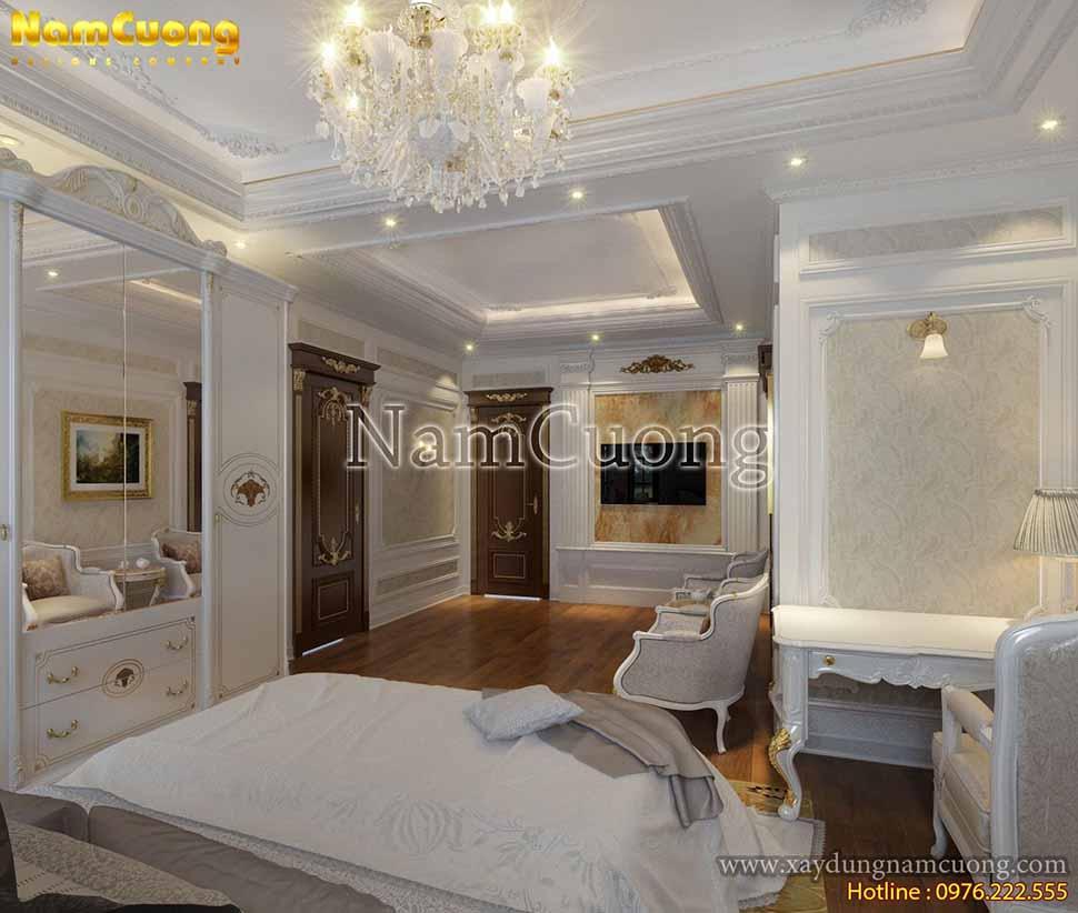nội thât phòng ngủ kiểu pháp đẹp