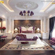 phòng ngủ màu tím nhạt