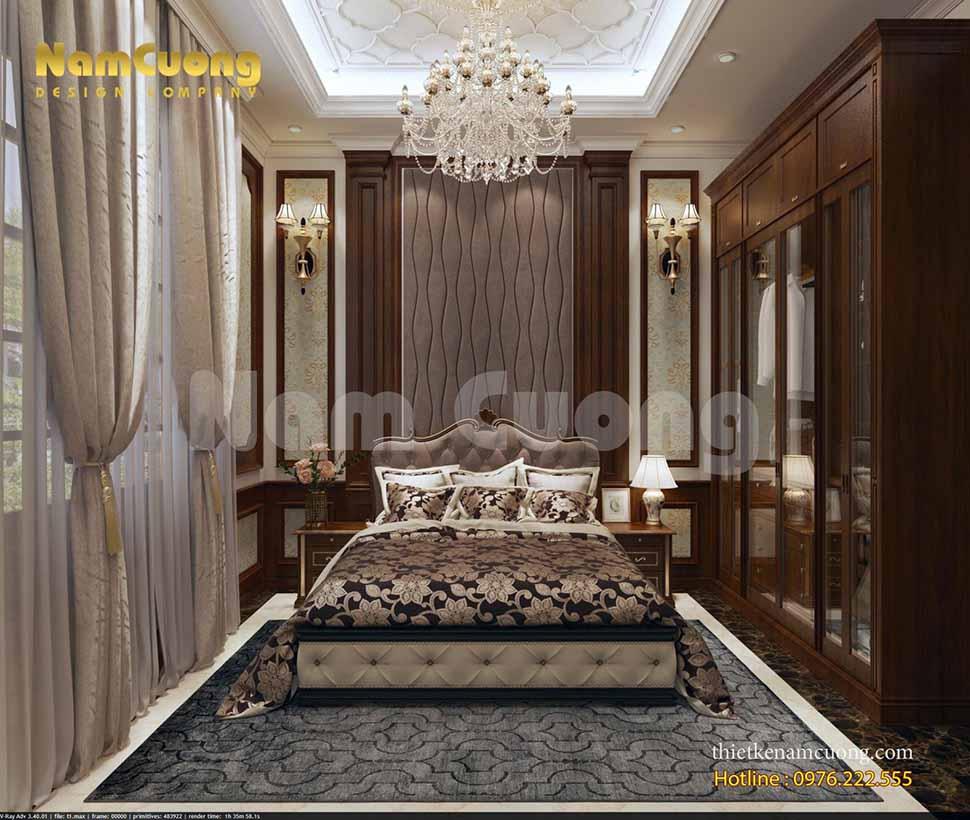 thiết kế phòng ngủ ông bà ở lâu đài
