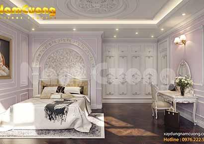 Thiết kế phòng ngủ tân cổ điển trong chung cư cao cấp