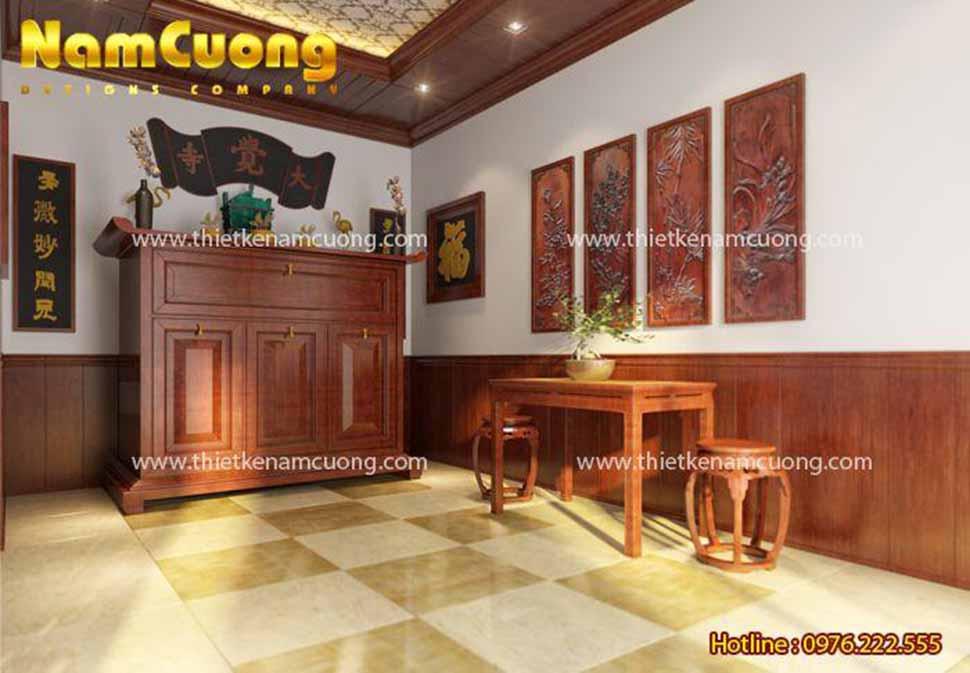 nội thất phòng thờ đẹp cổ điển