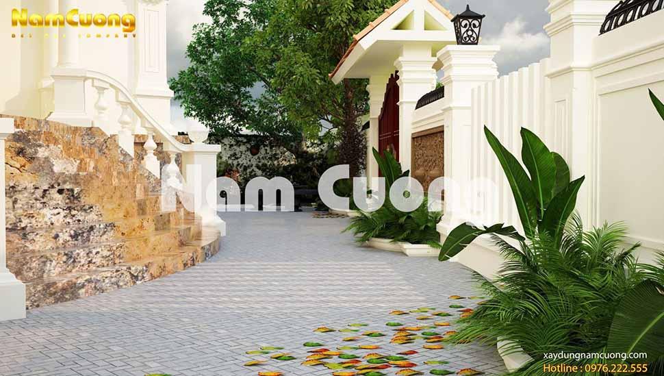 Nam Cường xin giới thiệu mẫu thiết kế sân vườn biệt thự đẹp mắt tại thành phố Hạ Long.