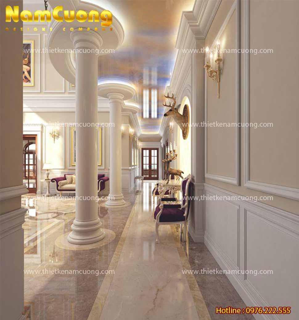 hành lang khách sạn 3 sao