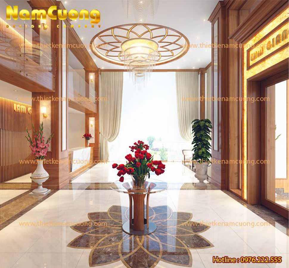 Vẻ đẹp hoa lệ của sảnh khách sạn phong cách Pháp