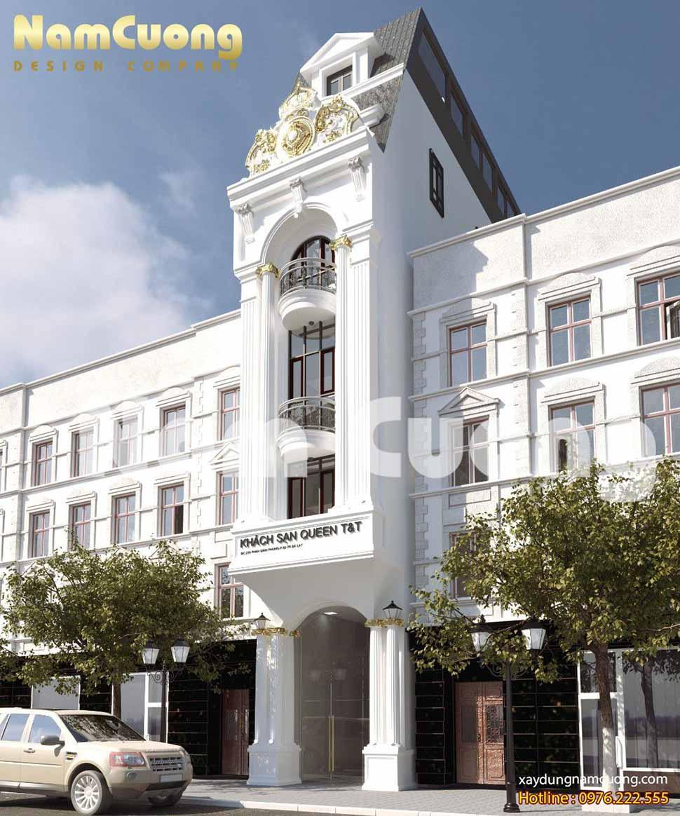 kiến trúc khách sạn mini