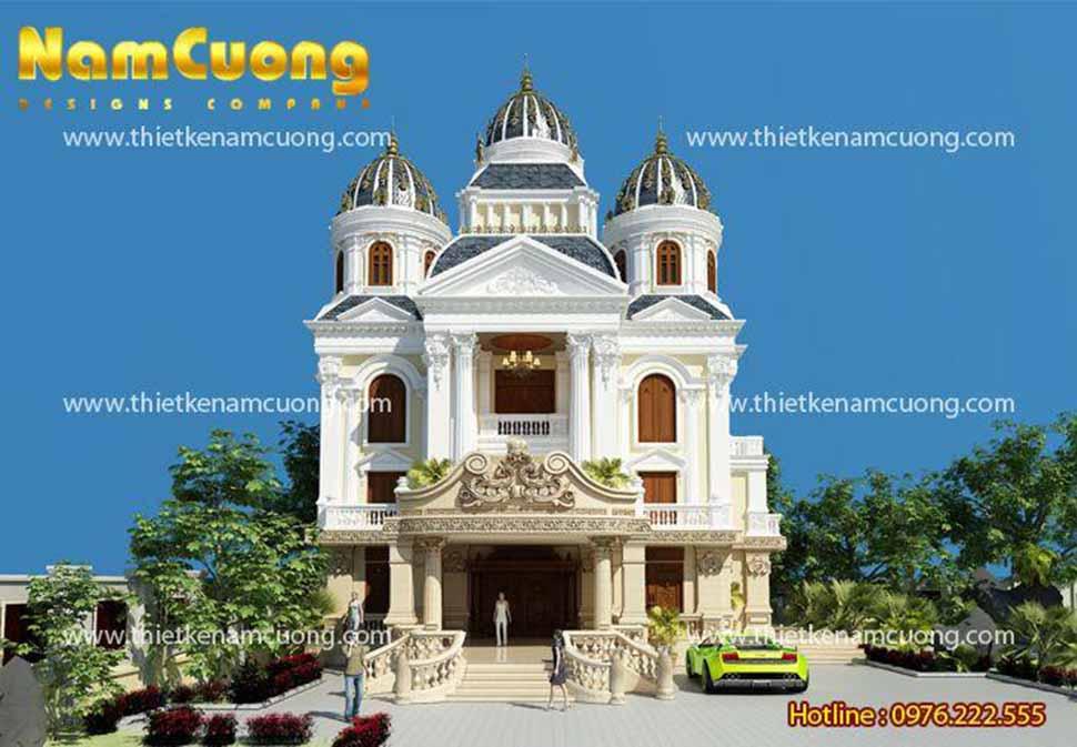 Biệt thự lâu đài Pháp 3,5 tầng đẳng cấp tại Quảng Ninh