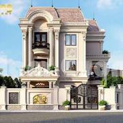 thiết kế biệt thự lâu đài Pháp 3 tầng