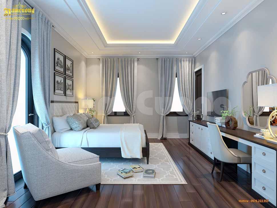 Mẫu phòng ngủ đẹp cho biệt thự Pháp tân cổ điển tại Khánh Hòa