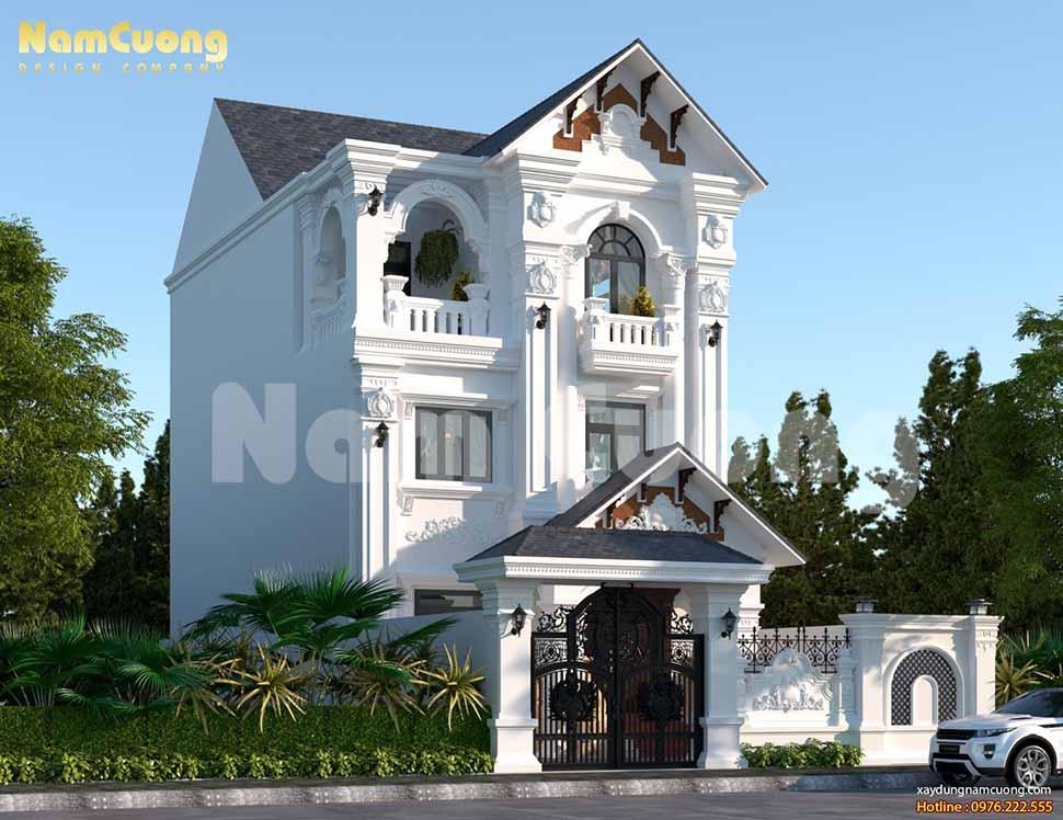 Thiết kế biệt thự Pháp tân cổ điển