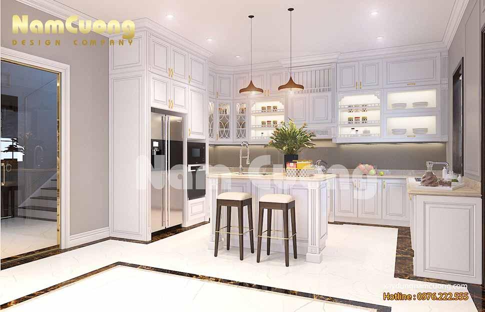Nội thất khách bếp của công trình