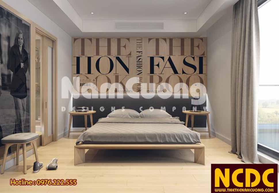 Phòng ngủ đơn giản, sắp xếp nội thất gọn gàng cùng lối trang trí ấn tượng, cá tính trong thiết kế căn hộ chung cư hiện đại