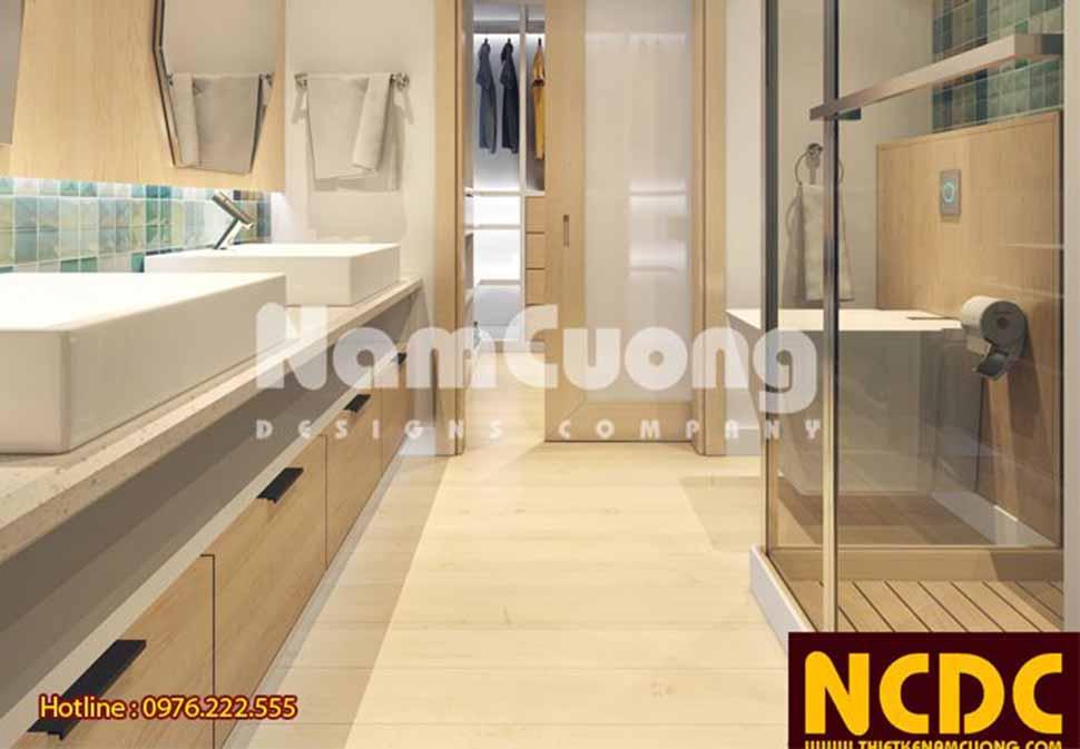 Phòng vệ sinh tiện nghi với các trang thiết bị nội thất tiên tiến, hiện đại