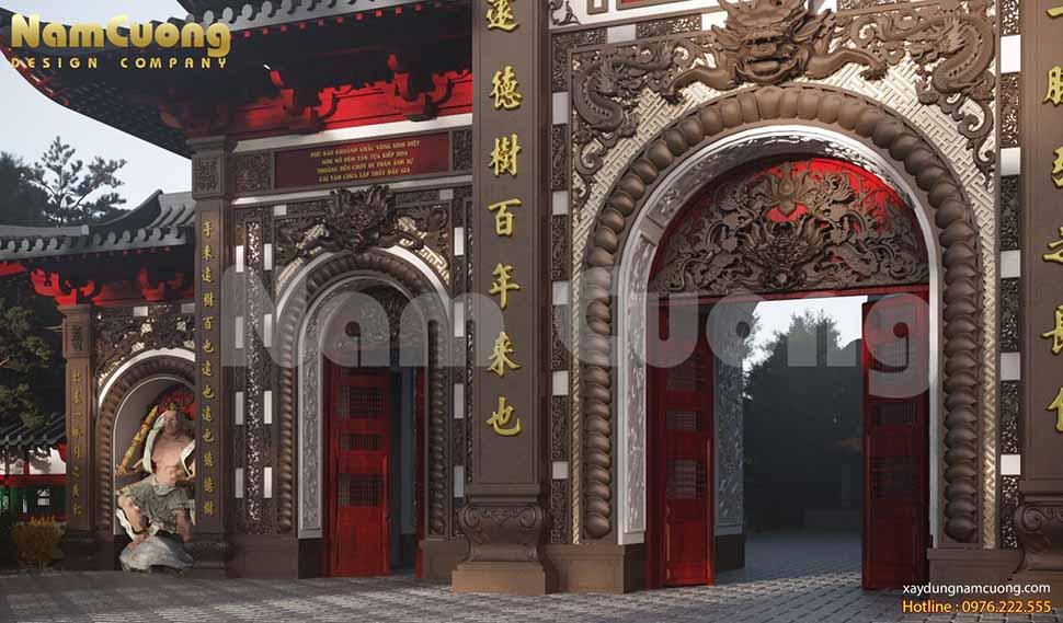cổng chùa phật quốc