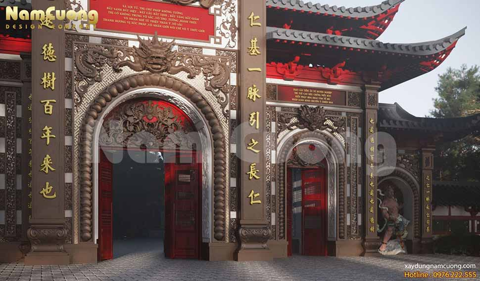 kiến trúc nhật trong thiết kế cổng chùa