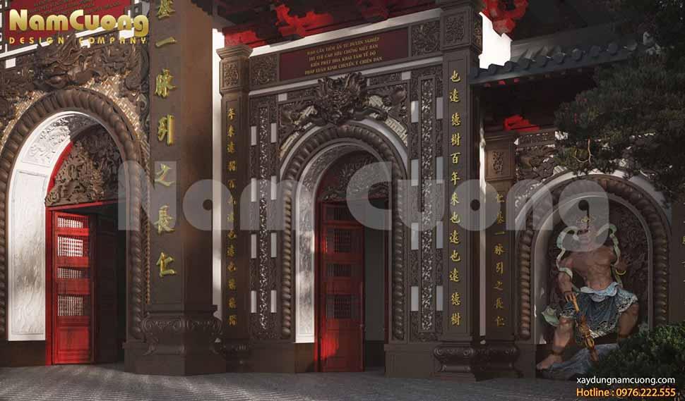 vẻ đẹp tinh tế của cổng chùa