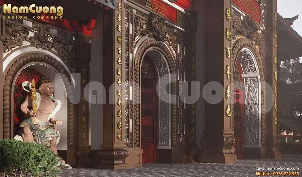 thiết kế cổng chùa mái Nhật