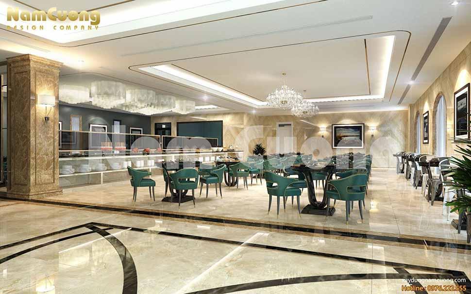 nhà hàng trong thiết kế khách sạn 2 sao