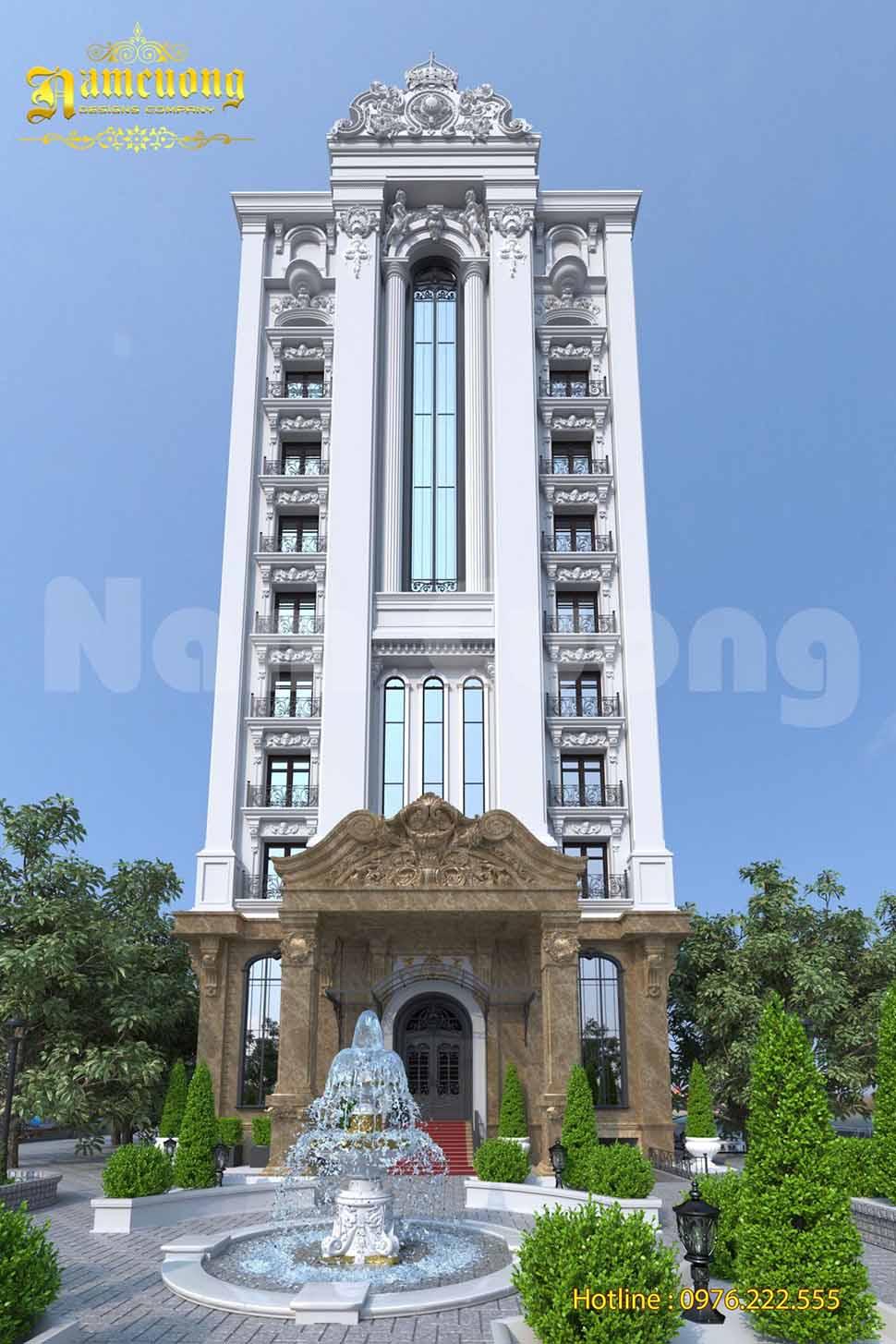 mặt tiền khách sạn quy mô lớn