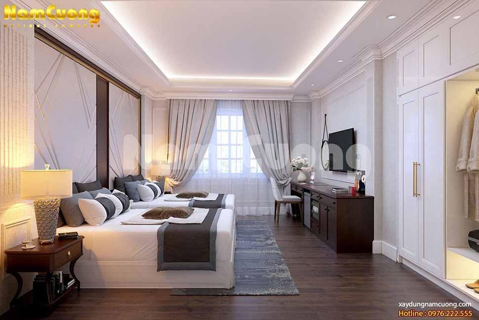 Phòng ngủ với các diện tích khác nhau