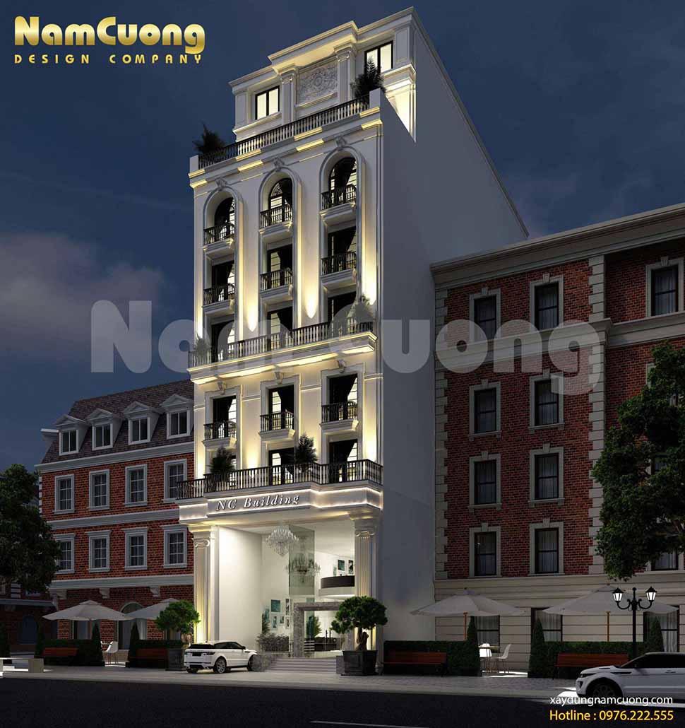 kiến trúc khách sạn 200m2