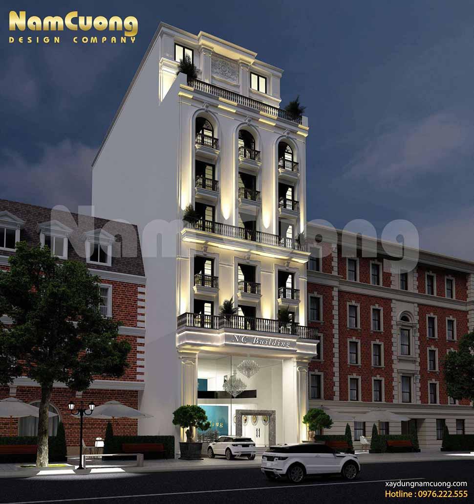mẫu khách sạn mặt tiền 10m