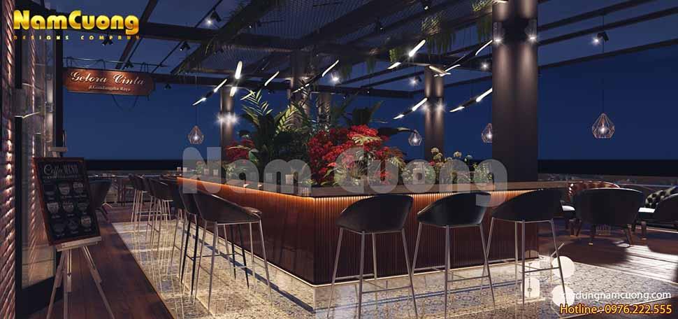 Tầng cao nhất của thiết kế nội thất khách sạn tân cổ điển có diện tích không gian vô cùng lớn
