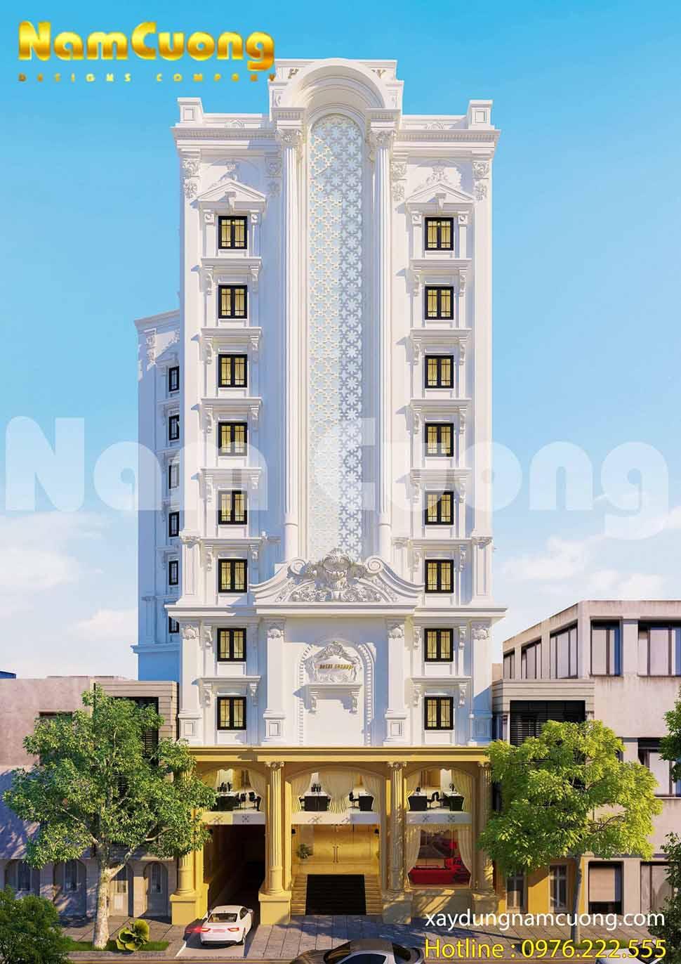 Vẻ đẹp đồ sộ, hoành tráng của khách sạn tân cổ điển tại Lạng Sơn