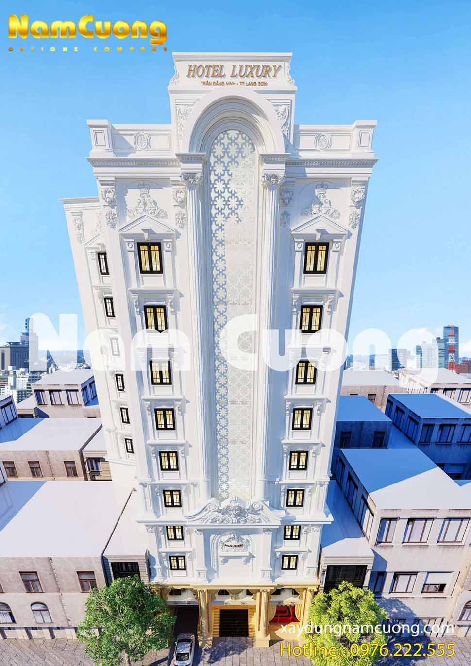 Góc view thể hiện sự đẳng cấp của khách sạn tân cổ điển 11 tầng