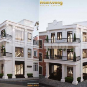 thiết kế nhà 3 tầng 2 mặt tiền