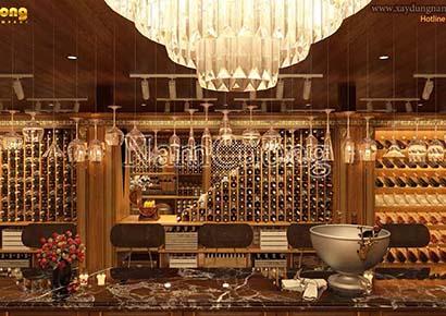 thiết kế nhà hàng hầm rượu