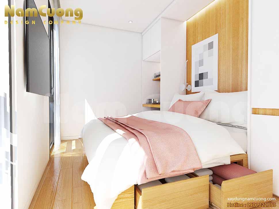 phòng ngủ thông minh trong mẫu thiết kế nhà nhỏ