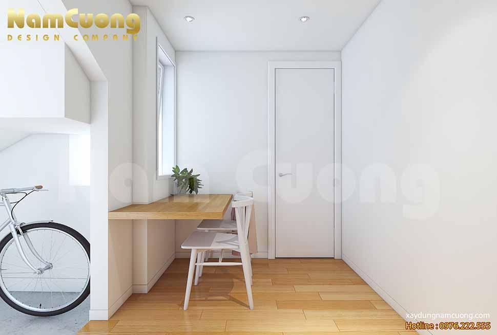 bàn ăn trong mẫu thiết kế nhà nhỏ